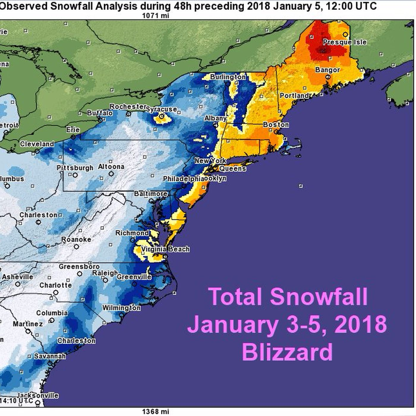 winter storm 2018 a bomb cyclone has covered almost the entire east coast in snow vox