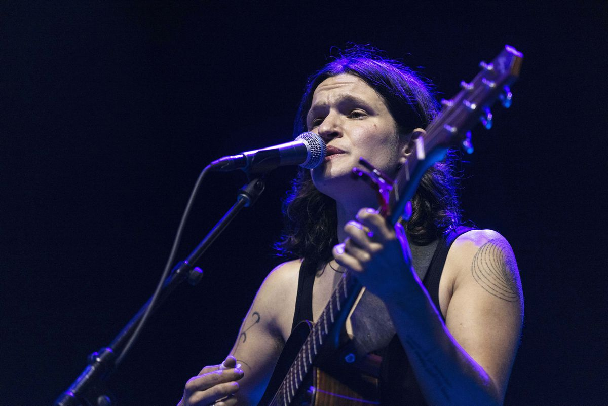 Big Thief performs on day one of the Pitchfork Music Festival.
