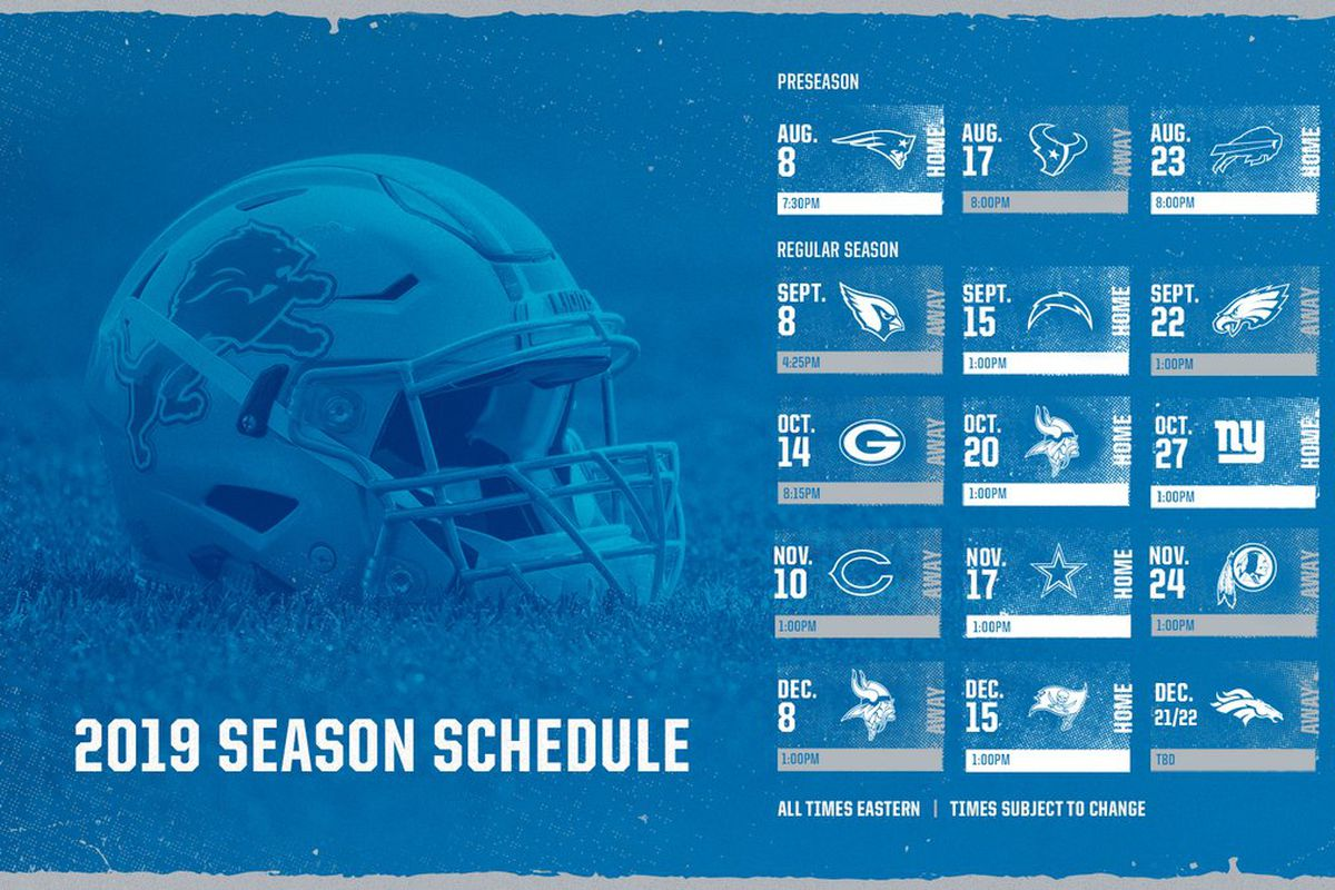 e9225e04 Ranking the 2019 NFL Schedule Release videos - Pride Of Detroit