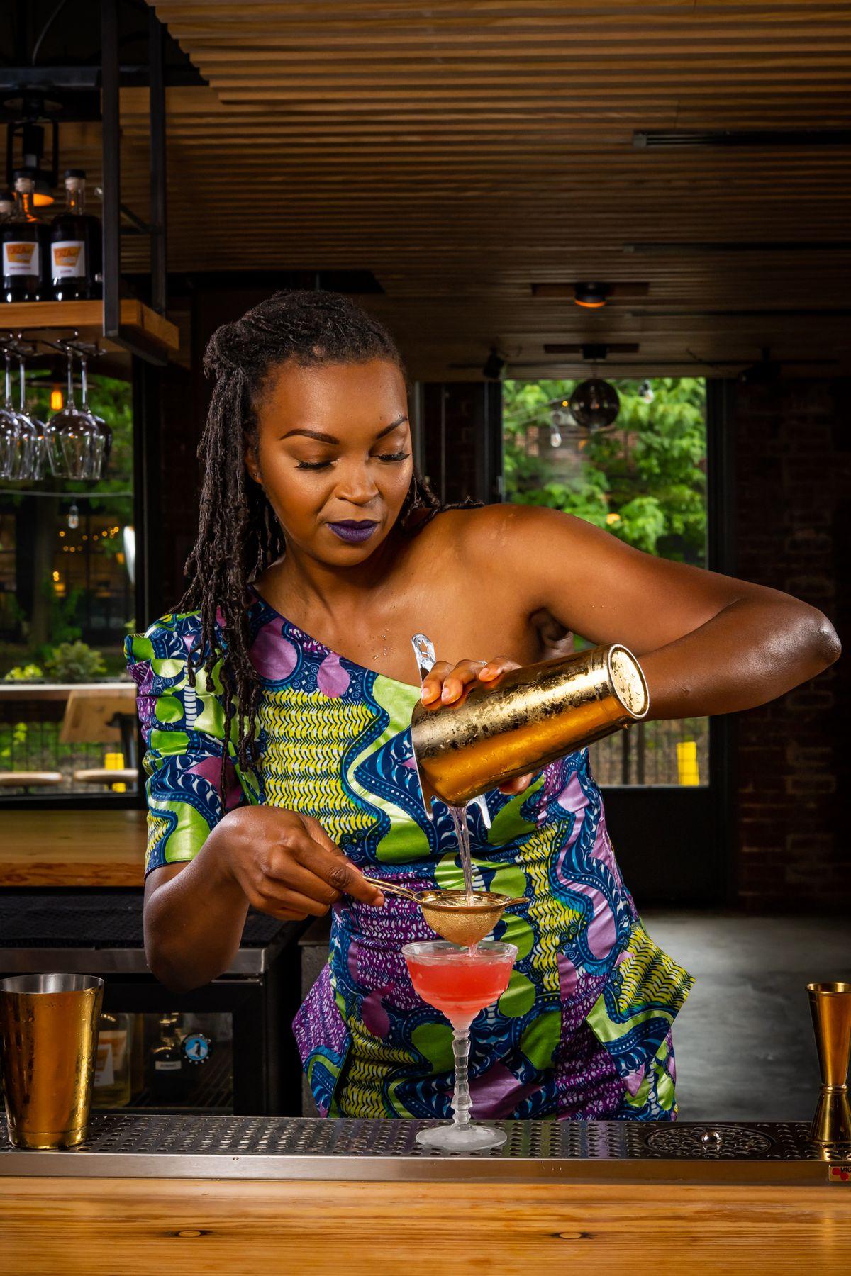 Bartender and A Sip in Paradise Garden founder Keyatta Mincey-Parker