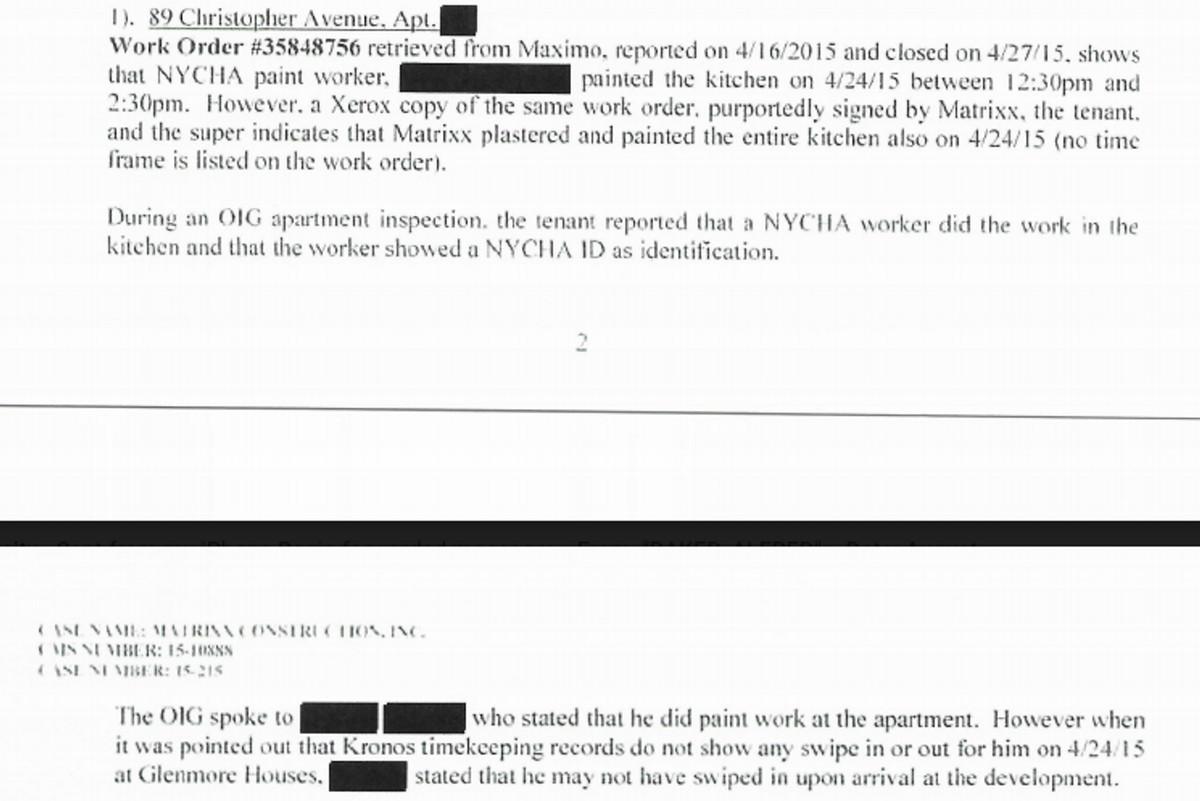 From a 2017 city Department of Investigation report examining Matrixx's no-bid contracts