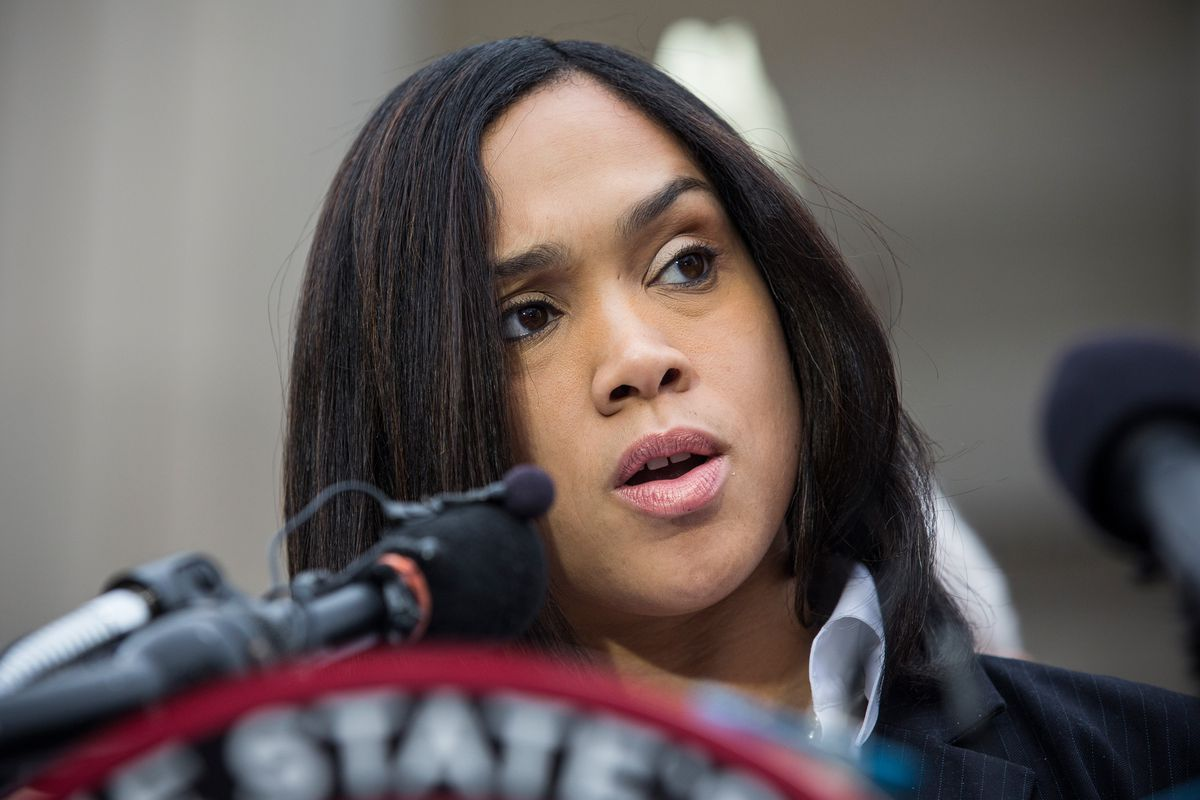 Baltimore City State's Attorney Marilyn Mosby announces charges against the six police officers involved in Freddie Gray's arrest.