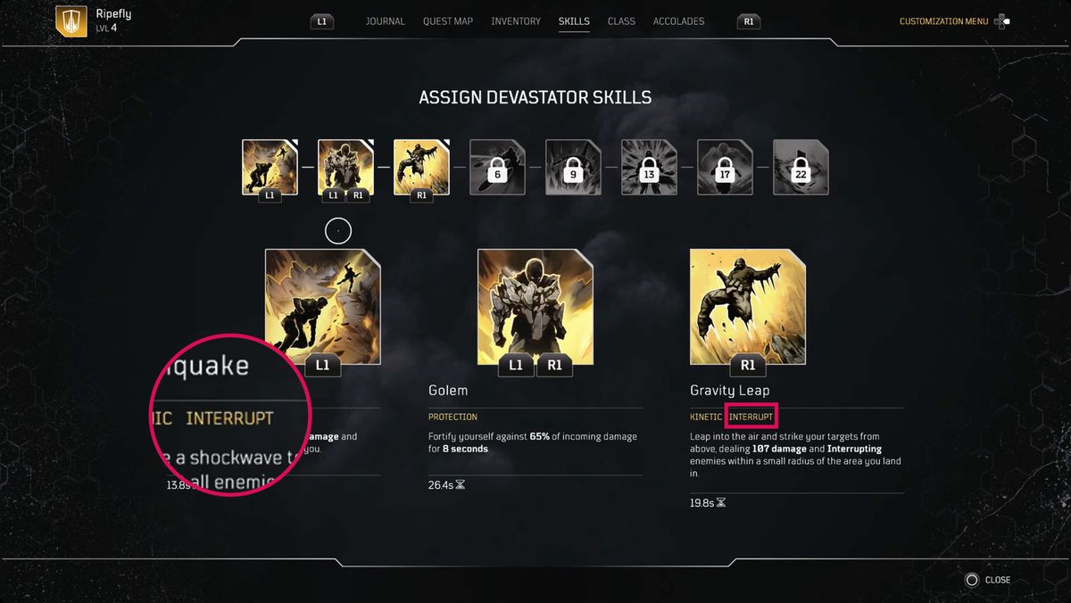 Outriders guide: Understanding interrupts and resistance