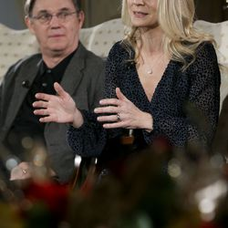 Kelli O'Hara—acclaimed singer and actress—and renowned actor Richard Thomas talk about the 2019 Christmas with The Tabernacle Choir concert in Salt Lake City on Thursday, Dec. 12, 2019. The Tabernacle Choir, Orchestra at Temple Square, and Bells on Temple Square will perform their annual Christmas concerts in the Conference Center on Temple Square in Salt Lake City, Utah on Thursday, Friday, and Saturday, December 12–14, 2019 at 8:00 p.m.