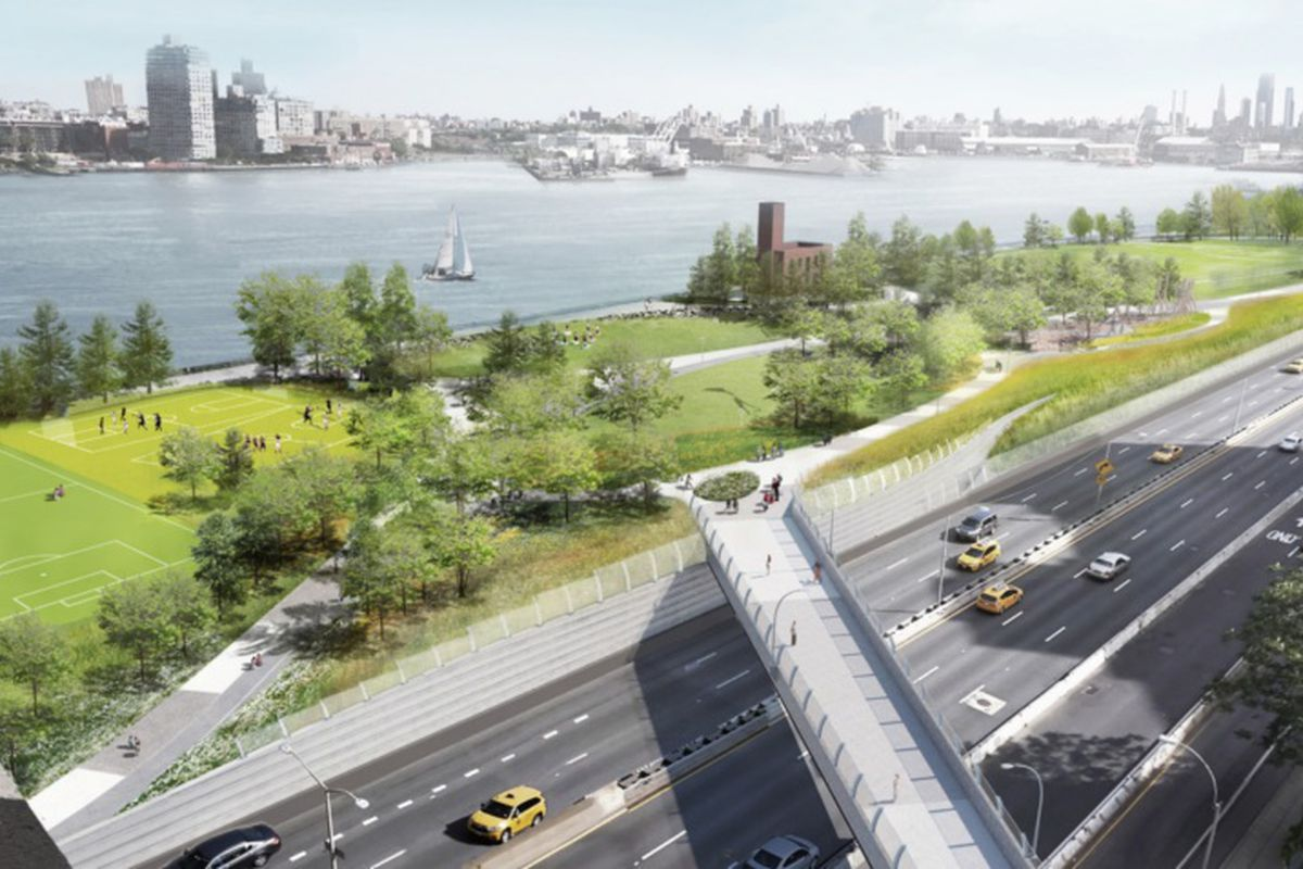 Manhattan's east side 'resilient park' plans get overhauled - Curbed NY