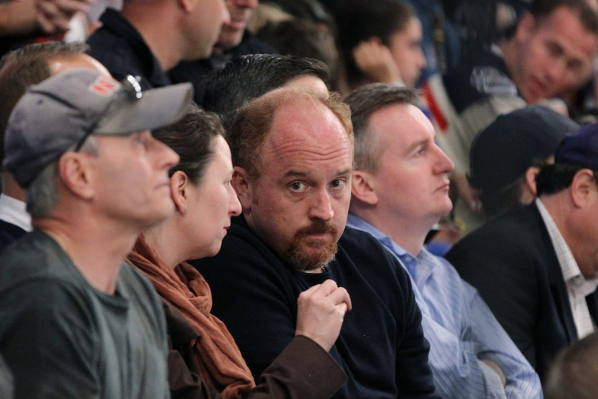 Louis CK is always relevant. Apparently he went to Game 2.