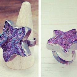 """Handmade drusy quartz <a href=""""http://adornbysarahlewis.com/products/star-drusy-ring"""">Star Ring</a>, $198 at Fishtown's Adorn"""