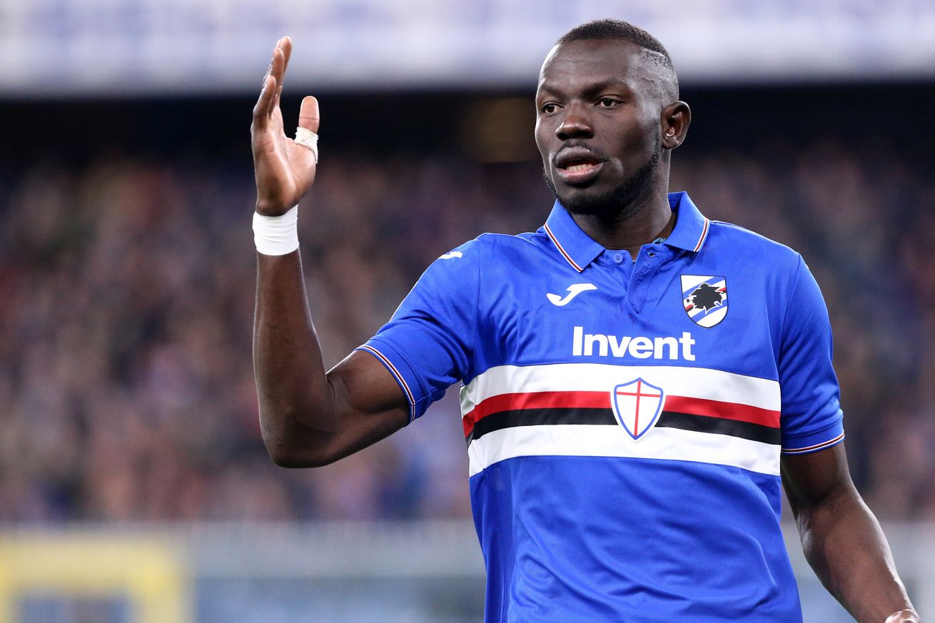 Omar Colley of Uc Sampdoria during the Serie A match...