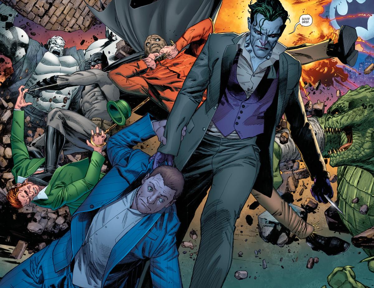 Kite Man's meeting goes bad, in Batman #27 (DC Comics 2017)