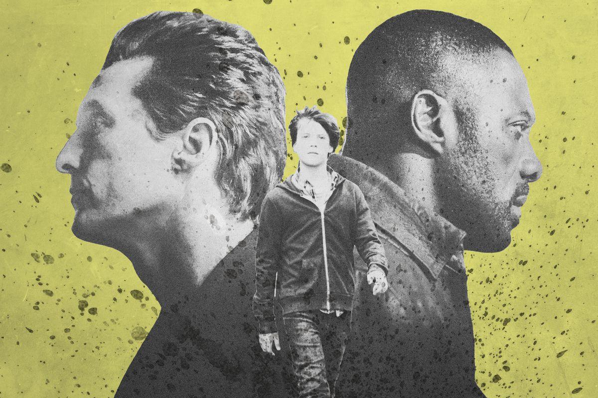 Collage of Matthew McConaughey and Idris Elba's characters in The Dark Tower