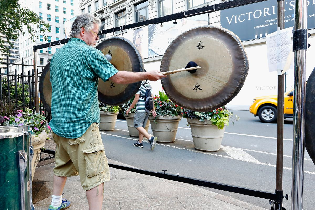 Gongs Ring In the Evening on Longest Day Of the Year, National Music Day, During Make Music NY