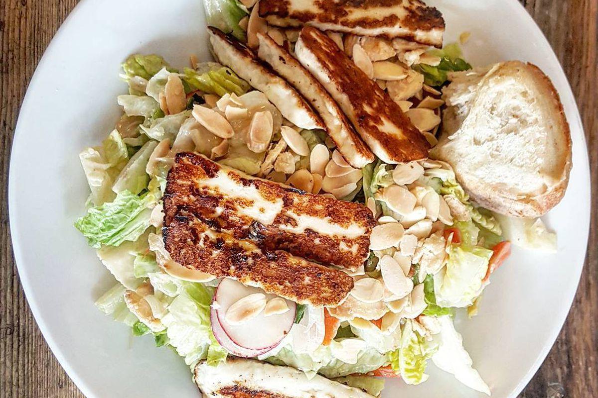 Crispy halloumi salad at Tatte