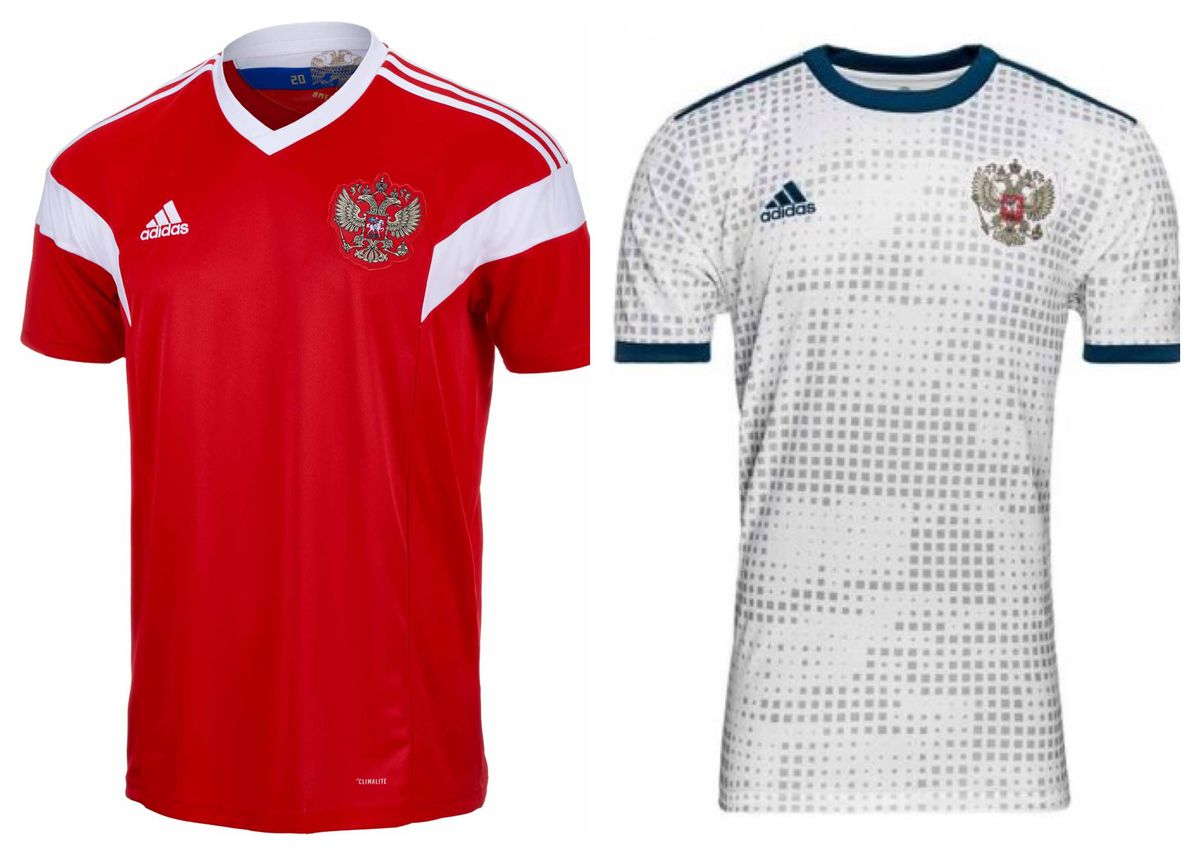 5331adde6 Russia is the host nation, and their home jersey looks like a training top.  They had a grand opportunity to really show something off to the world.
