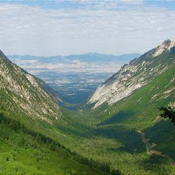 5. The trail enters Red Pine Fork with terrific views looking down Little Cottonwood Canyon and the Salt Lake Valley.