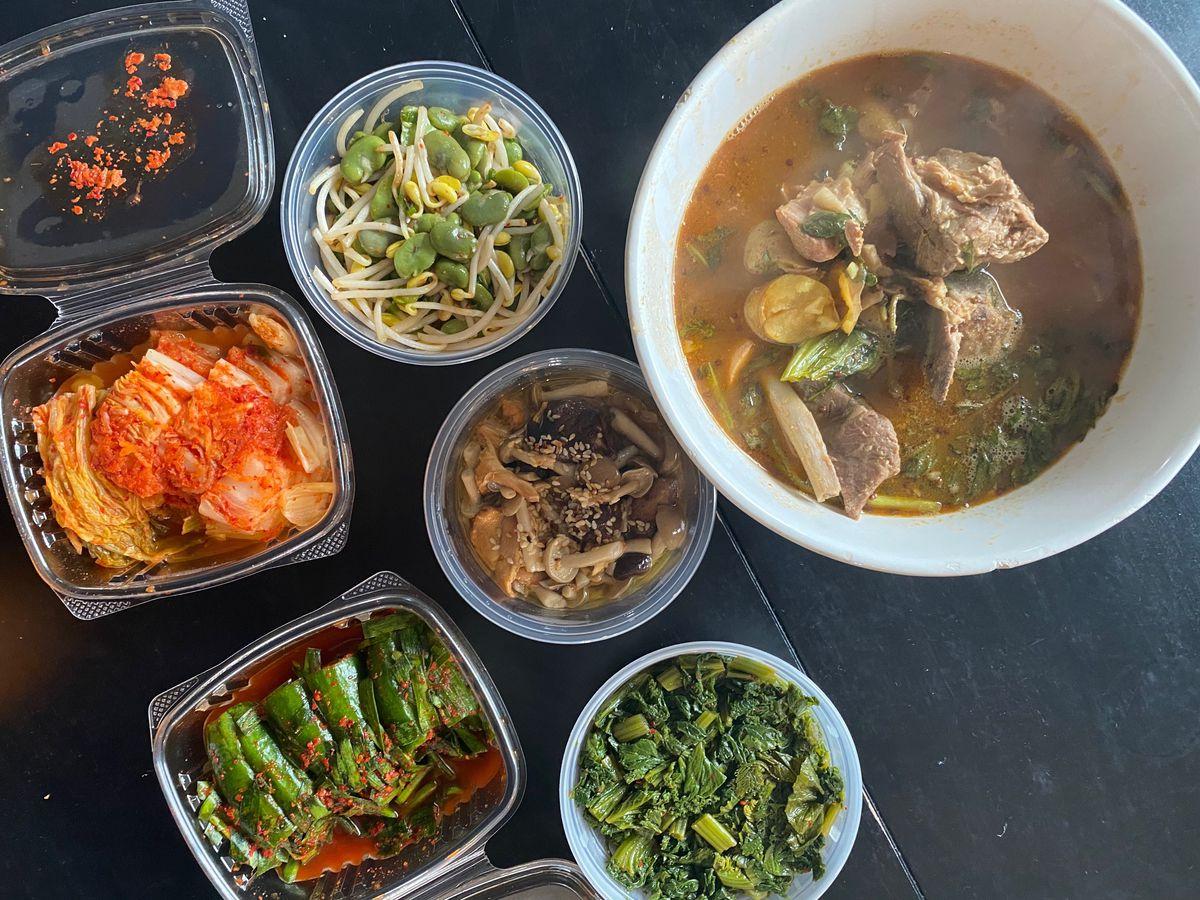 pork stew and banchan from JunJu