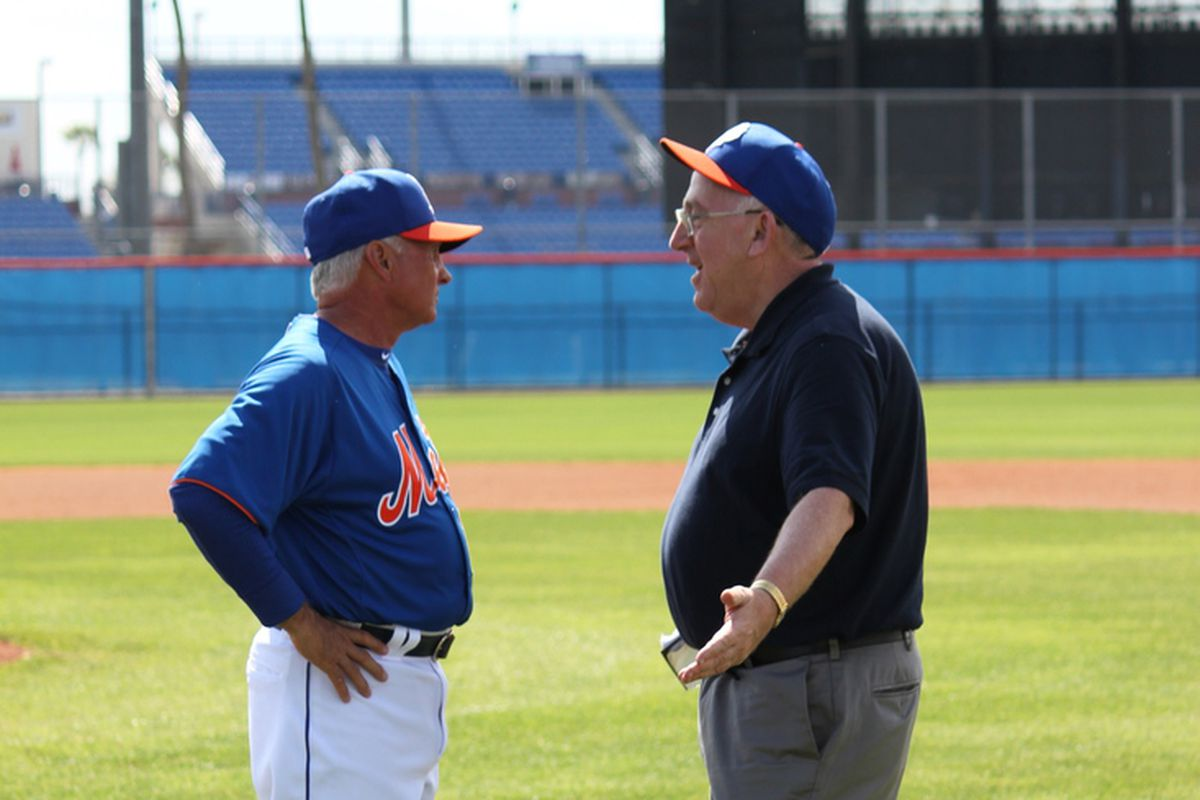 Terry Collins and Jay Horwitz - 2013 - Mets