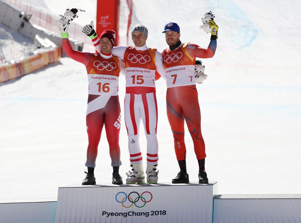 Olympics: Alpine Skiing-Mens Super-G