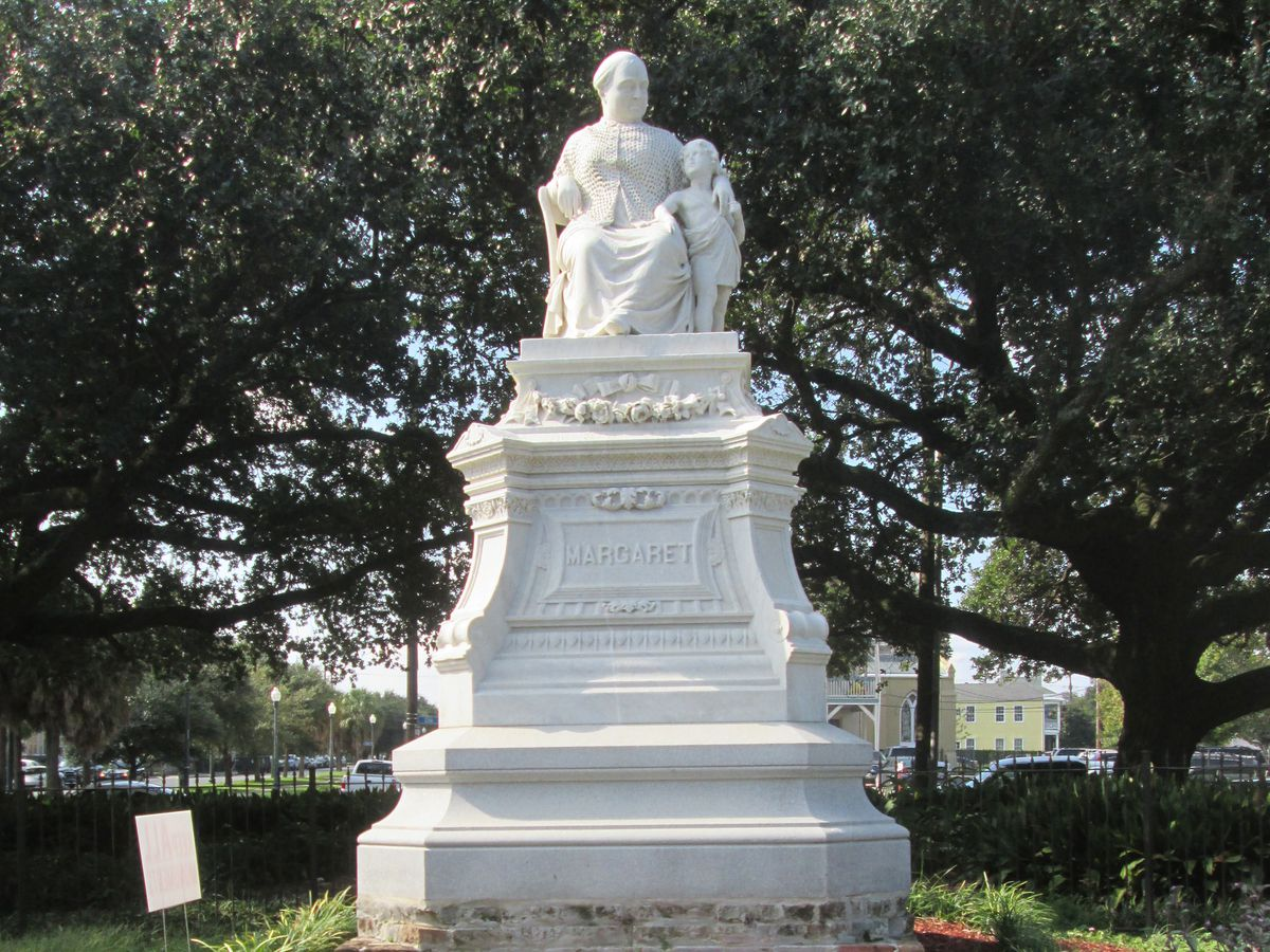 The Margaret Haughery statue is one of many monuments erected in New Orleans, celebrating the success and impact of women in the city.