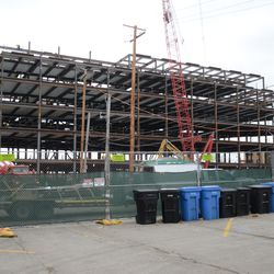 11:53 a.m. Another view of the plaza building from the players' parking lot -