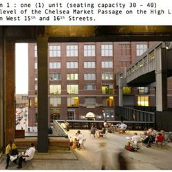 Beer and wine may soon be part of the High Line experience.