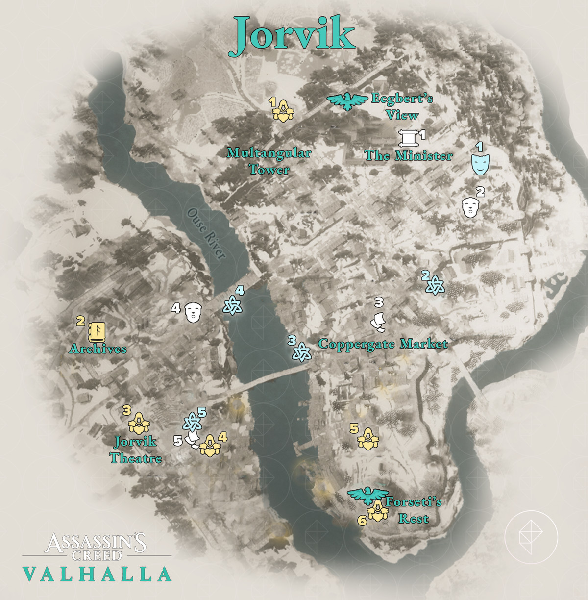 Jorvik Wealth, Mysteries, and Artifacts locations map
