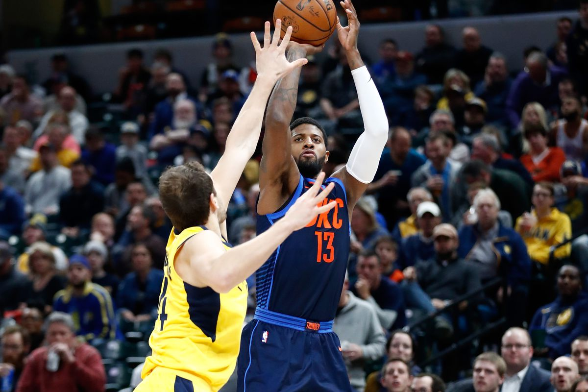 a438411ab Pacers Links  Will Thad Young wear PGs when playing Paul George ...