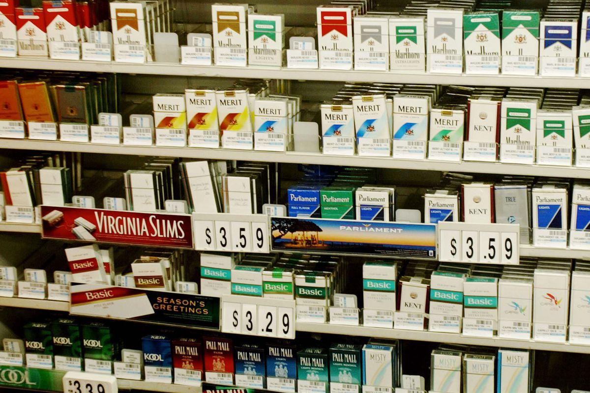 Cigarettes on sale.