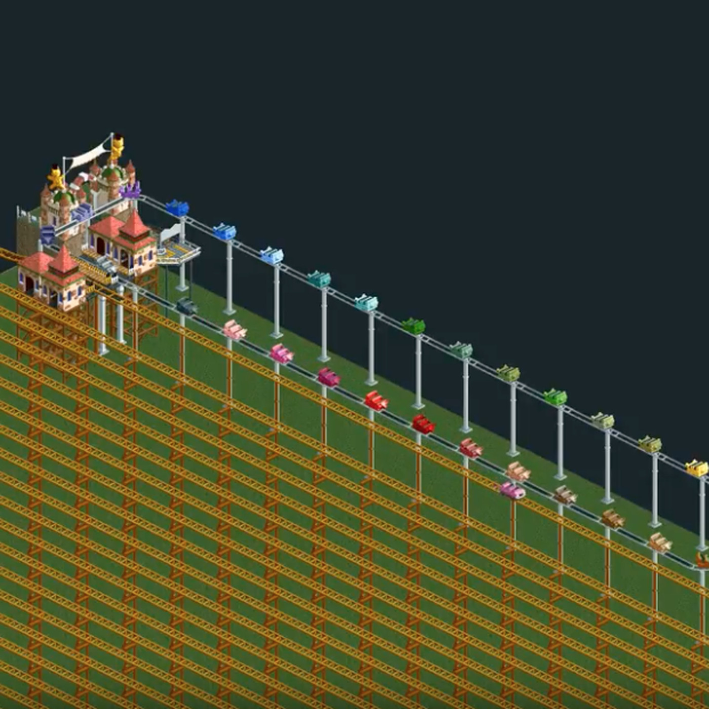 rct2 building good roller coasters