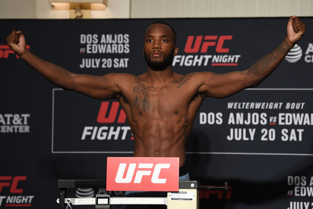 Leon Edwards at the UFC Fight Night weigh ins.