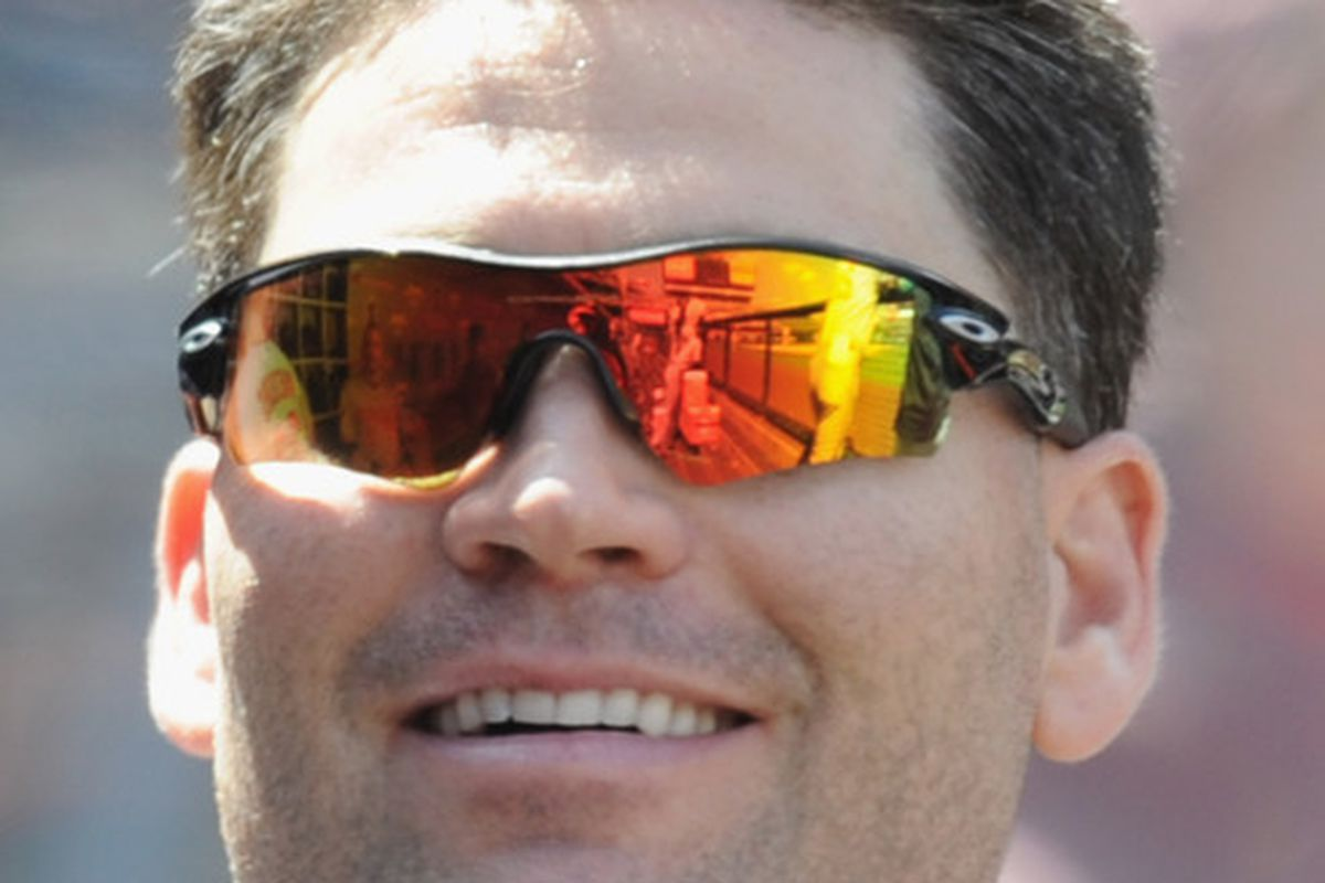 Luke Scott liked his hair that way, thank you very much. (Photo by Harry How/Getty Images)