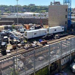 The 207th Street train yard in Manhattan was flooded by Ida. Sept. 2, 2021.