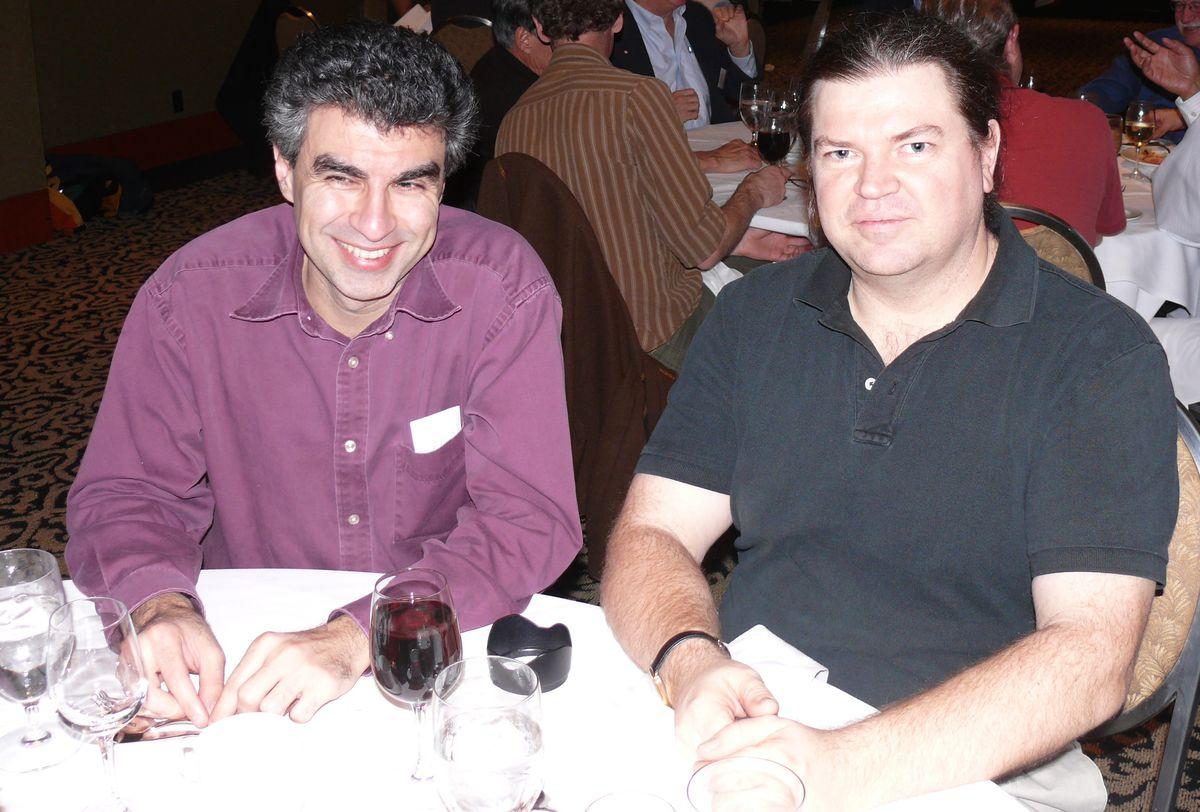 Yoshua Bengio, University of Montreal (left); Yann LeCun, Facebook (right) in 2007