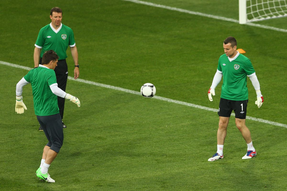 Republic of Ireland Training and Press Conference - Group C: UEFA EURO 2012
