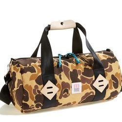 "Topo Designs <a href=""http://shop.nordstrom.com/s/topo-designs-duffel-bag-18-inch/3780498?"">Camo Duffel Bag</a>, $98"