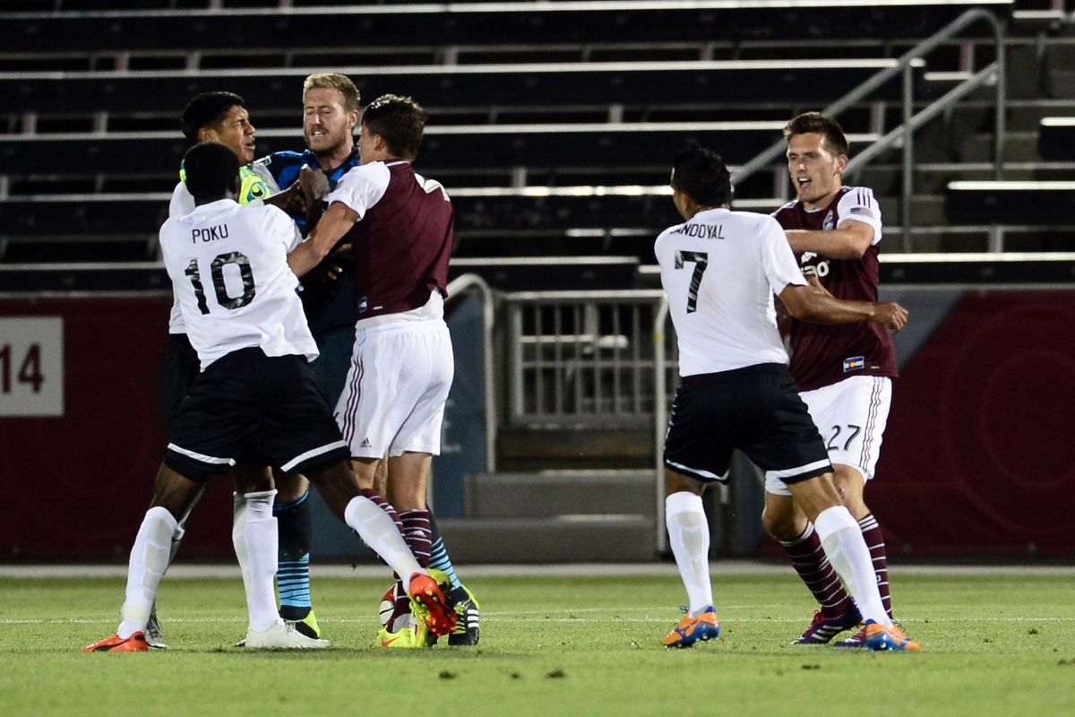 This brawl during their round-of-16 matchup with Colorado cost Atlanta the services of three of their best attackers, as well as the sideline presence of manager Eric Wynalda.