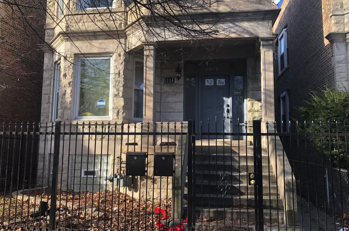 Thirteen people were shot at this home in the 5700 block of South May Street in Englewood on Dec. 22, 2019.