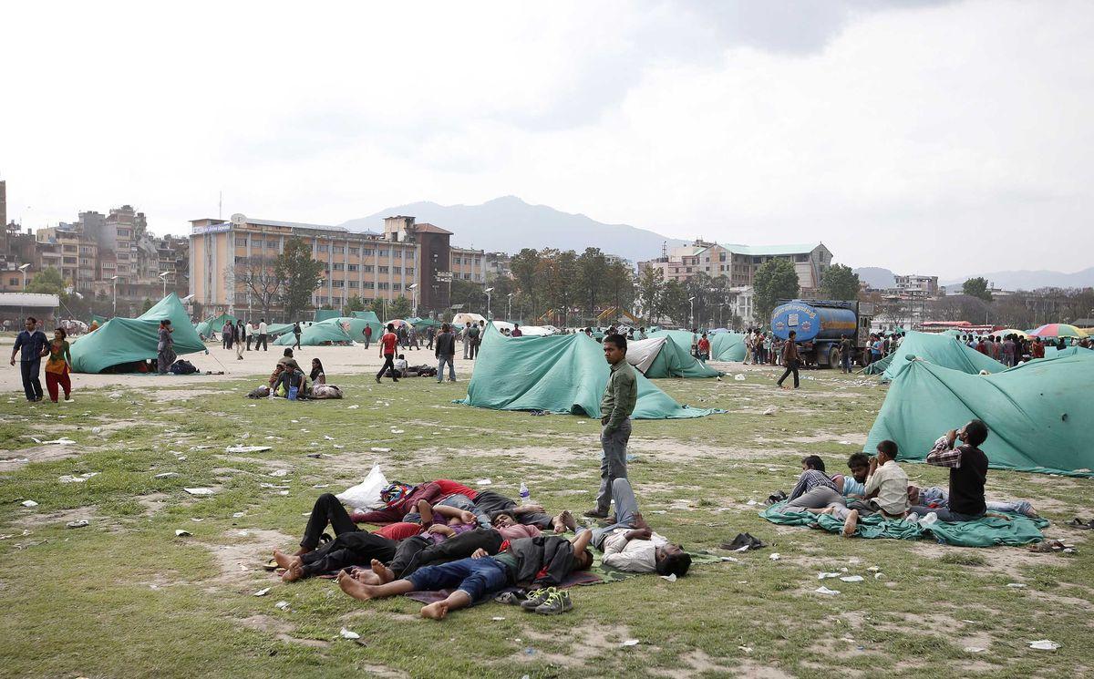 Nepal earthquake tents