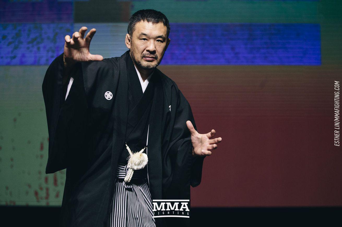 Kazushi Sakuraba UFC Hall of Fame media scrum