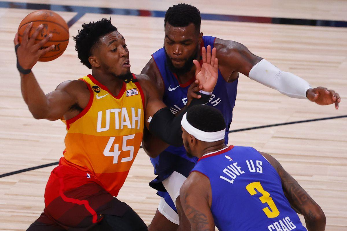 Recap: Denver Nuggets bring the fight, but Donovan Mitchell and Utah Jazz  get last laugh again - Denver Stiffs