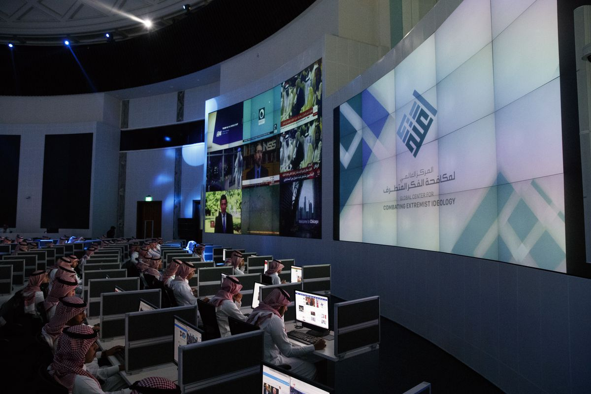 No women are in evidence at the new state-of-the-art Saudi anti-terror center, which President Trump helped to inaugurate.