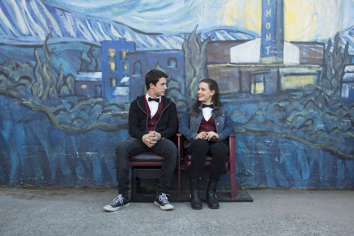 (Left to Right) Dylan Minnette and Katherine Langford on 13 Reasons Why