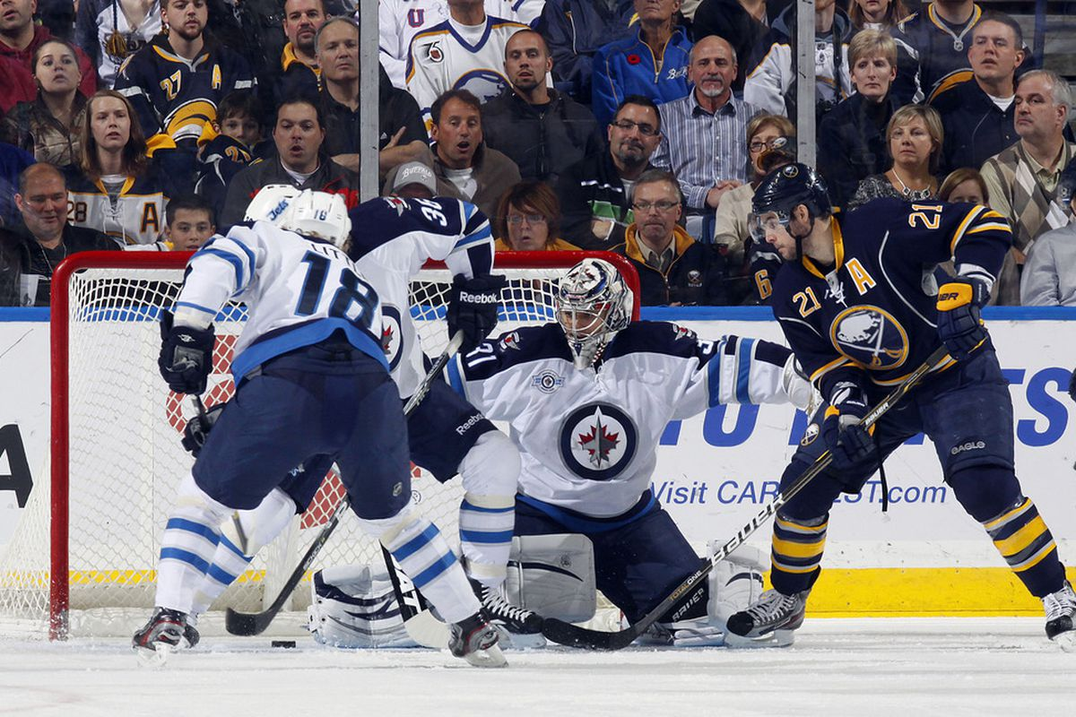 Can Pavelec turn in a 0.900 save percentage or higher this evening?  We'll see...