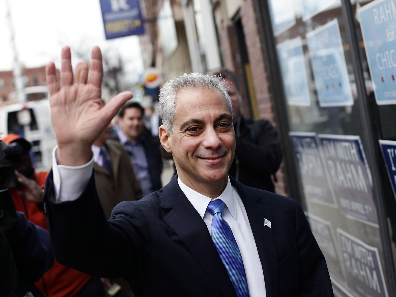 The outgoing mayor Rahm Emanuel.