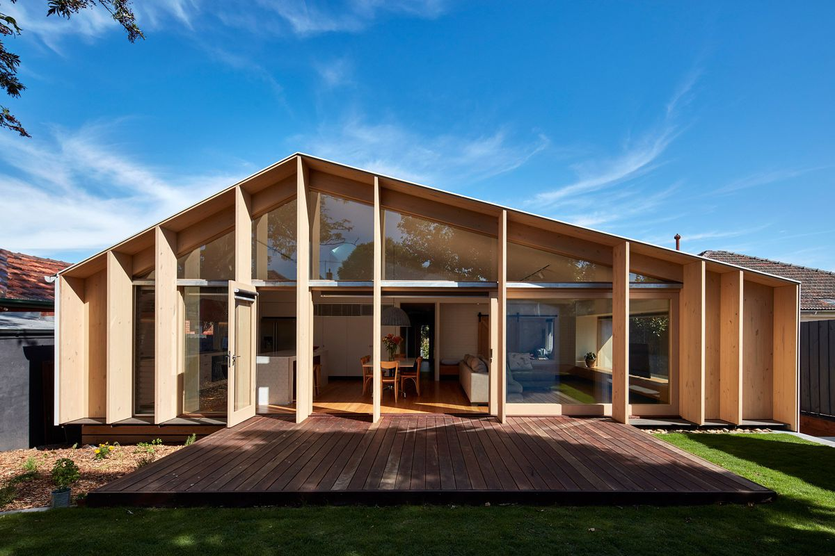 A modern addition added to a 1960s suburban home in melbourne australia by warc