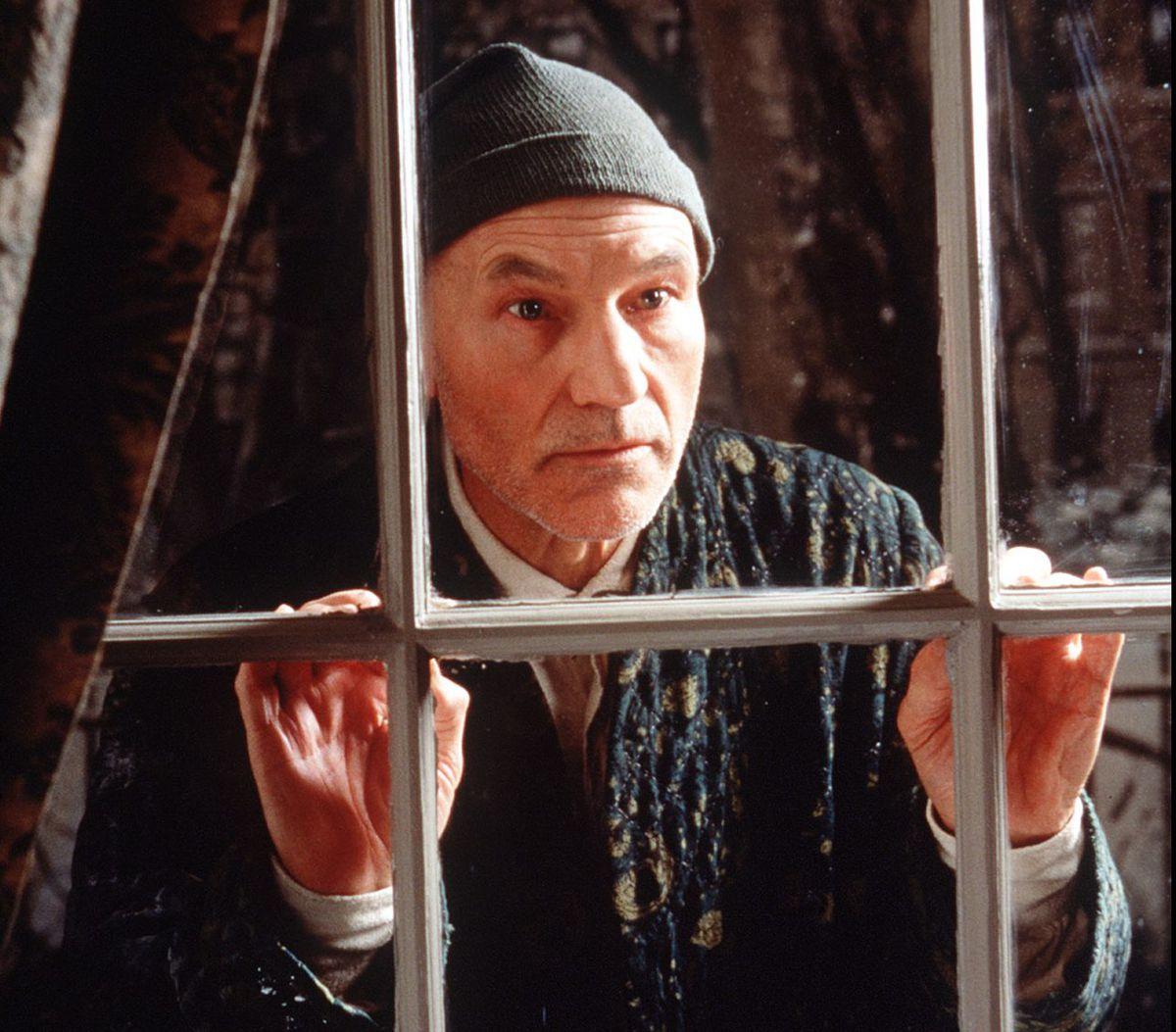 "bc836d7d1ae1d Patrick Stewart plays Ebenezer Scrooge in ""A Christmas Carol"
