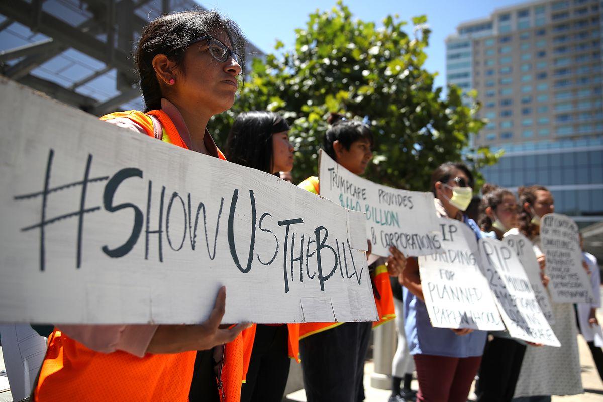 Activists Protest Against GOP's Trumpcare Bill