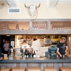 The 20-seat concrete-topped bar hosts 8 beers on draft.