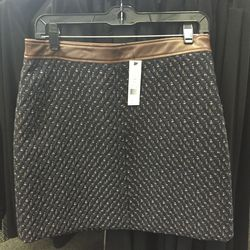 Leather skirt, $279