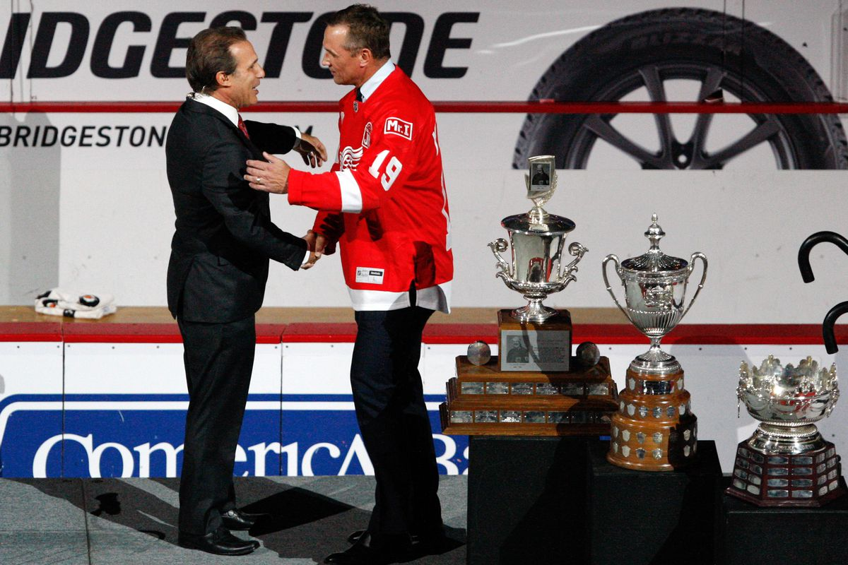 NHL: New Jersey Devils at Detroit Red Wings