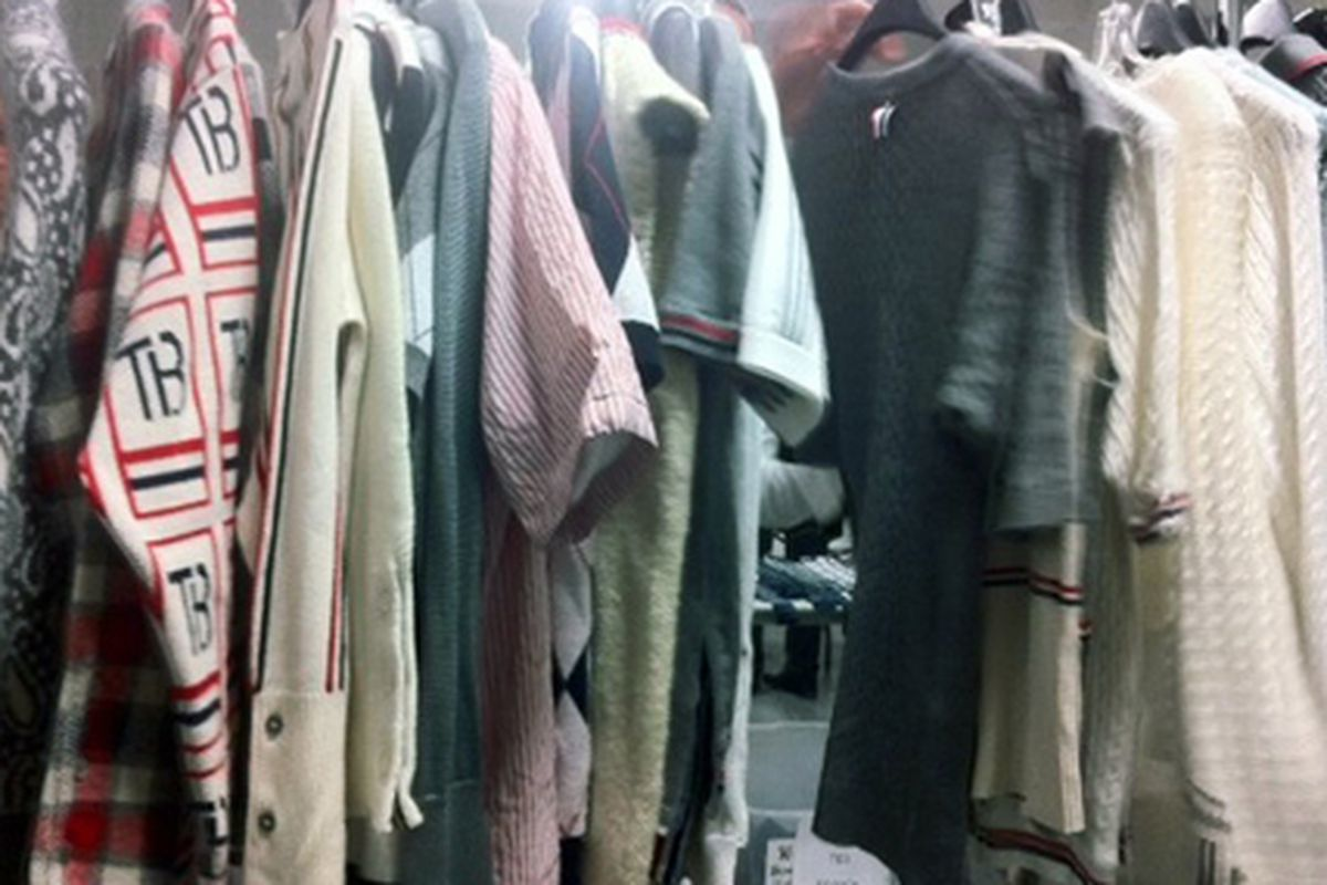 "Womenwear at Thom Browne via <a href=""http://samplesally.com/2011/11/04/19568/"">Sample Sally</a>"